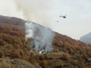La Regione: 'Incendio in fase di spegnimento a Demonte'