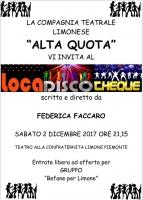 'Loca Disco Cheque', il nuovo spettacolo della compagnia Alta Quota debutta a Limone