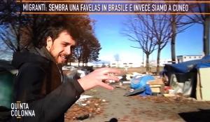 Ieri sera servizio di 'Quinta Colonna' sui migranti a Saluzzo