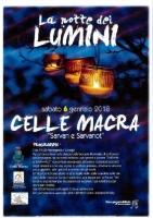 La notte dei lumini a Celle Macra