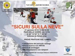 Chiusa di Pesio: 'Sicuri sulla neve' l'iniziativa organizzata dal Corpo Nazionale del Soccorso Alpino e Speleologico
