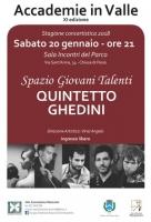 Sabato 20 gennaio a Chiusa di Pesio il concerto del 'Quintetto Ghedini'