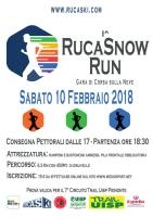 """1ª edizione della """"Rucas Snow Run"""" a Bagnolo Piemonte"""