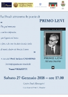 Mondovì: 'La Shoah attraverso le poesie di Primo Levi' a cura del Prof. Stefano Casarino