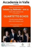 A Limone Piemonte la rassegna musicale Accademie in Valle con il 'Quartetto Echos'