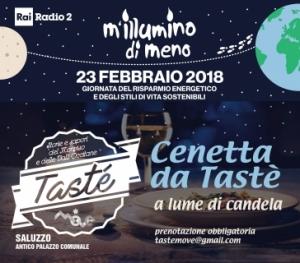 Saluzzo: cenetta da Tastè a lume di candela in occasione della campagna 'M'illumino di Meno'