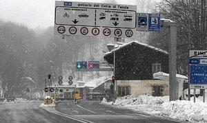 Colle di Tenda chiuso per neve dalle 21 di stasera