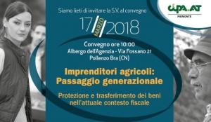 A Pollenzo il convegno 'Imprenditori Agricoli: passaggio generazionale'