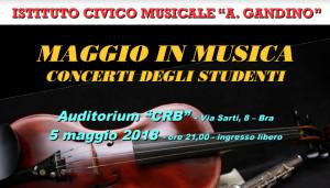 Maggio a Bra è in musica con i concerti del 'Gandino'