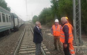 Treno deragliato a Trinità, anche Balocco sul posto