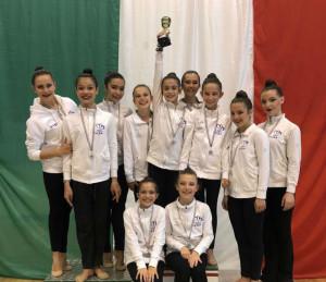 Campionato di Insieme Silver di Ginnastica ritmica: la Team Cuneo è ok