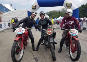 Soci del Moto Club Drivers Cuneo All'ASI Moto Show di Varano de' Melegari