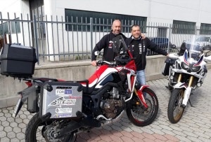 In moto verso i Balcani: partita l'avventura di due centauri cuneesi