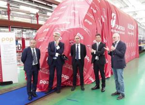 Presentato all'Alstom di Savigliano il treno Pop di Trenitalia