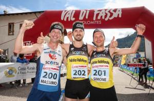 A una tappa dalla fine, tre cuneesi 'padroni' della Val di Fassa Running