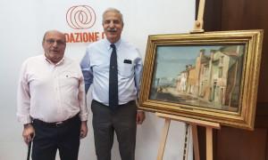 Il sindaco di Elva ha donato un'opera alla Fondazione Crc