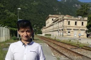 Un intero piano del museo ferroviario di Robilante dedicato alla Cuneo-Nizza