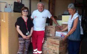 A Busca la Croce Rossa ha raccolto 270 chili di viveri per le famiglie bisognose
