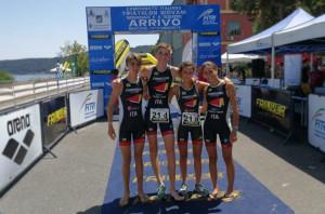 Cuneo 1198 Triteam sul podio ai Tricolori di Bracciano con Guglielmo Giuliano