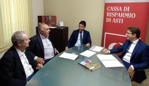 La CR Asti rilancia l'accordo con la Confartigianato Fidi Cuneo