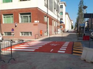 Cuneo: terminata la prima parte di lavori per la pista ciclabile su Corso Brunet