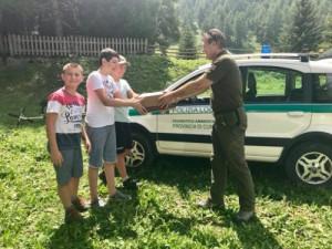 Gheppio ferito a Chianale salvato da tre ragazzi