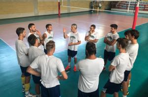 Il Vbc Mondovì ha ripreso gli allenamenti a l PalaEllero di Roccaforte Mondovì