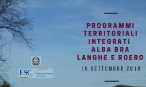 Ad Alba il convegno 'Programmi Territoriali Integrati Alba Bra Langhe e Roero'