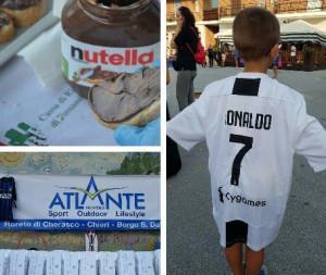 Cervere, lo sport in piazza 'fa centro' omaggiando anche Nutella e Ronaldo