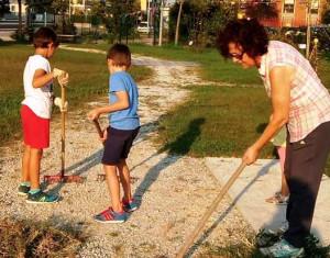 Busca, volontari al lavoro nel 'Giardino dell'Infinito'