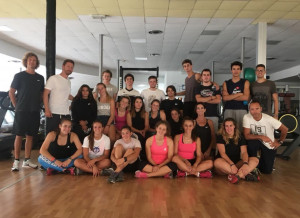 Test atletici a Cuneo per gli atleti della squadra di Sci Alpino della Fisi Alpi Occidentali