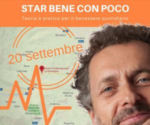 Ai 'Giovedì della Gramigna' Mario Frusi presenta 'Star bene con poco'