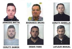 Ecco i volti degli arrestati nel blitz dei Carabinieri al campo nomadi di Cerialdo