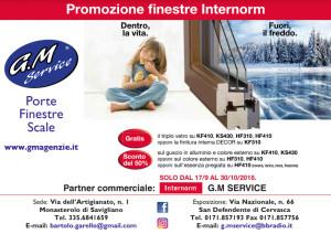 La G.M Service mette in promozione le finestre Internorm