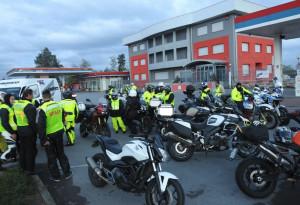Trentacinque centauri al 'Motogiro' organizzato dalla Bianco Moto di Cuneo