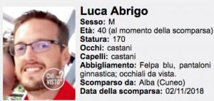 Proseguono le ricerche di Luca Abrigo, scomparso da venerdì