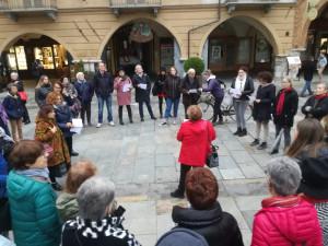 Anche a Cuneo si è svolto il flash mob contro il ddl Pillon