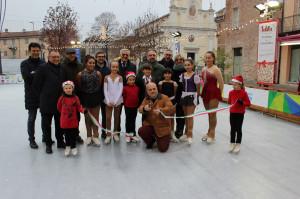 Alba: inaugurata  la pista di pattinaggio su ghiaccio in piazza Pertinace