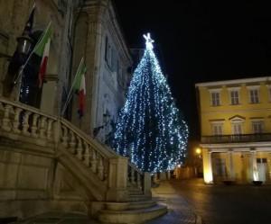 Bra, due alberi di Natale illuminati in città