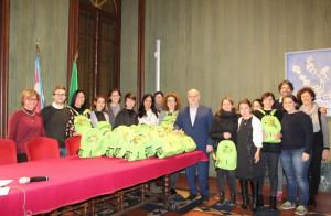 Alba, i ringraziamenti dell'amministrazione ai volontari del 'Piedibus'