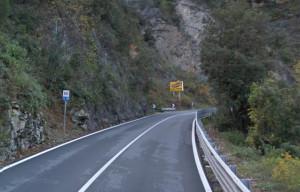 In valle Roya chiusura notturna della statale 20 tra fra Trucco e Airole