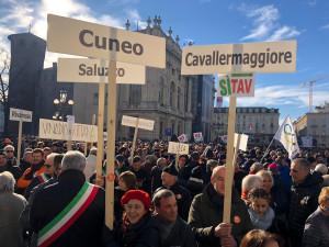 Anche una rappresentanza della Granda a Torino per gridare 'Sì Tav'