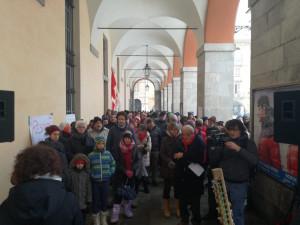 'L'Italia che resiste' (anche alla neve) in piazza contro il Decreto Sicurezza