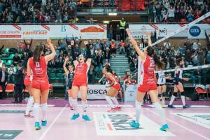 Pallavolo A1/F: Cuneo vince ancora e consolida l'ottavo posto