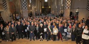 Alba: 71 coppie alla festa per le nozze d'oro, diamante e di pietra nella chiesa di San Domenico