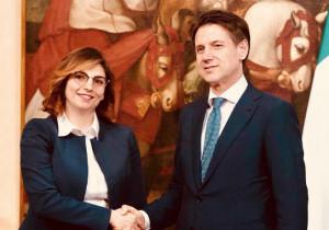 Il sottosegretario del Ministero dell'Economia Laura Castelli ai 'Dialoghi Eula'