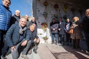 Al cimitero di Borgo San Dalmazzo una targa posta dal Panathlon in memoria di 'Pinin' Callipo