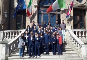 Bra: ricevuti in Municipio gli studenti del 'Mucci' impegnati in 'IoLavoro'