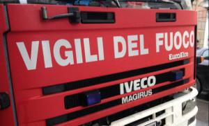 I Vigili del Fuoco a Busca per un incendio in una pineta