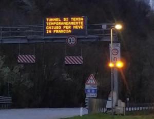 Tunnel di Tenda chiuso per 'Guasti tecnici nella parte francese'